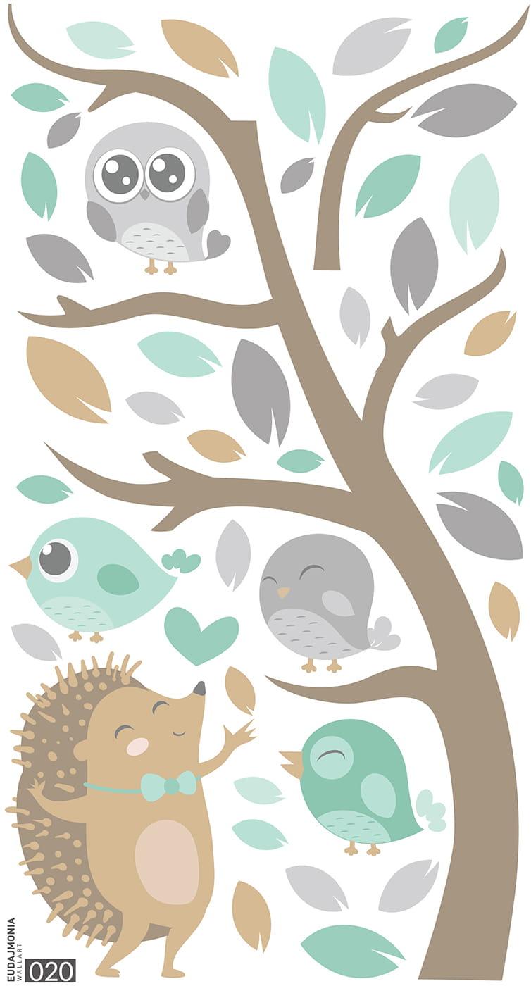 Eudajmonia Wallart Naklejki Scienne Naklejki Dla Dzieci Jezyk Drzewo